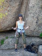 Rock Climbing Photo: First trad lead in Vedauwoo.