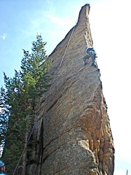 Rock Climbing Photo: Fantastic arete climb at Lilly Lake, Colorado