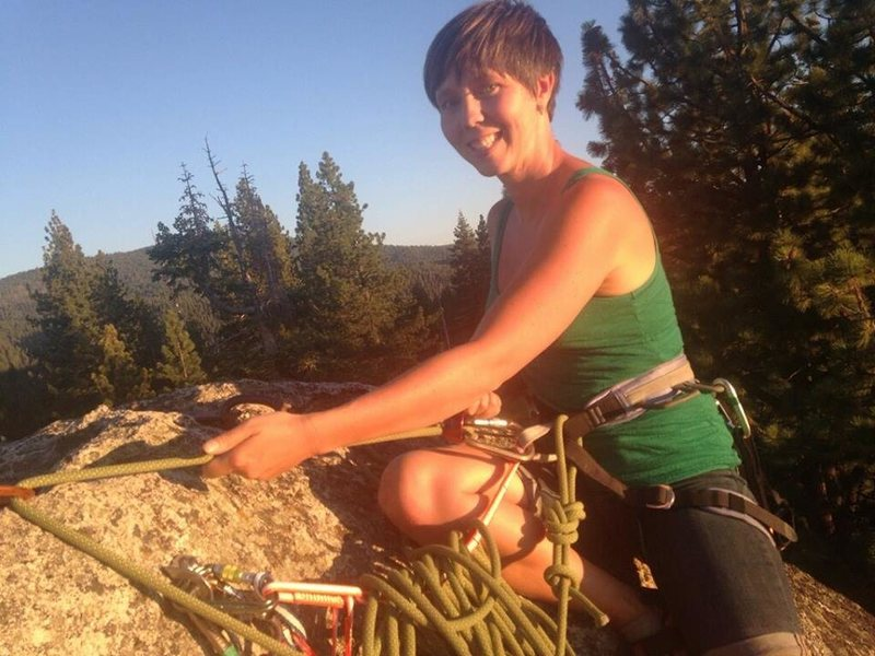 Rock Climbing Photo: Some multipitch practice in Tahoe.
