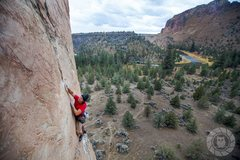 Rock Climbing Photo: Last bolt on The Big Tease. This route is killer. ...