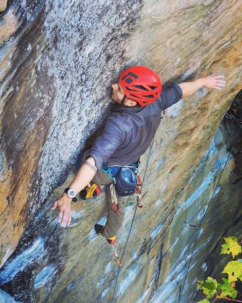 Rock Climbing Photo: No hands rest right before the crux
