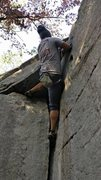 Rock Climbing Photo: V0 crack