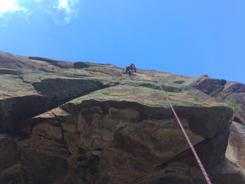 Rock Climbing Photo: Mary cruising the Rising Sun.