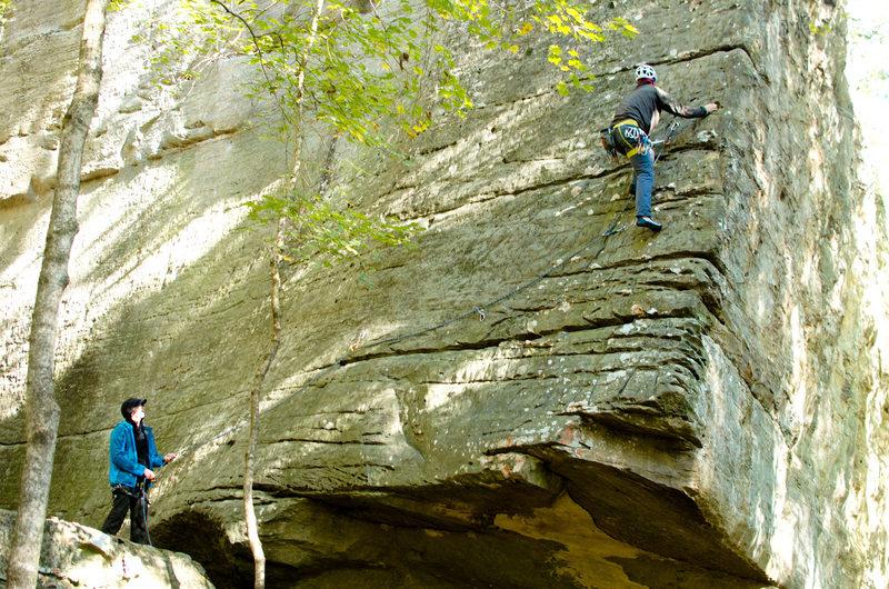 Rock Climbing Photo: D.D. climbing off the hangover.
