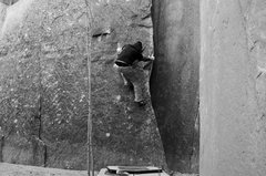 Rock Climbing Photo: bouldering a lonesome crag