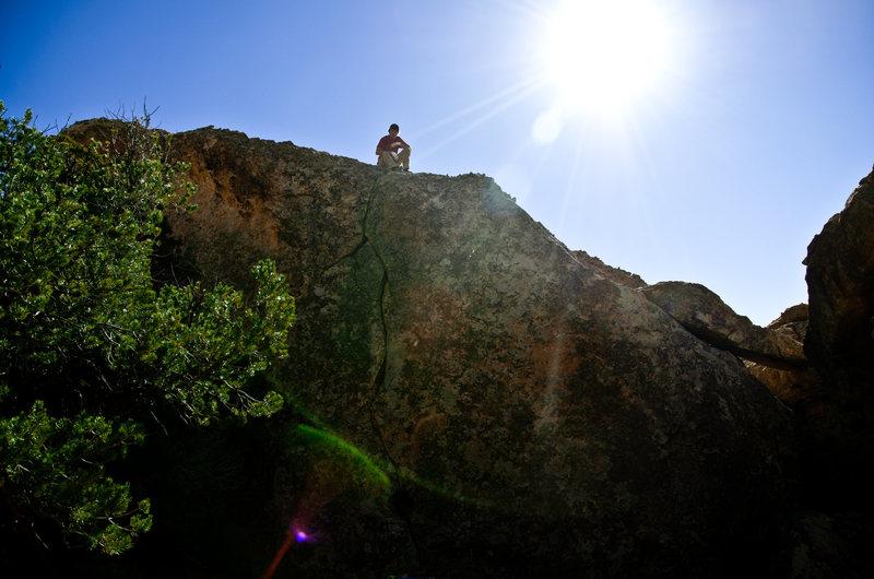 Rock Climbing Photo: JB up top a new ascent.