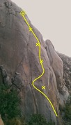 Rock Climbing Photo: A view of Big Kahuna from the top of Orange Sunshi...