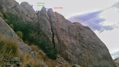Rock Climbing Photo: High concentration of sport (for Mission Gorge).