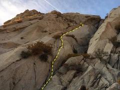 Rock Climbing Photo: A striking line
