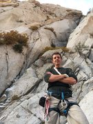 Rock Climbing Photo: Note the splitter to the left of me