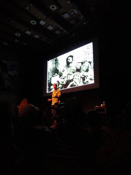 Yosemite Facelift Hans Florine speaking during