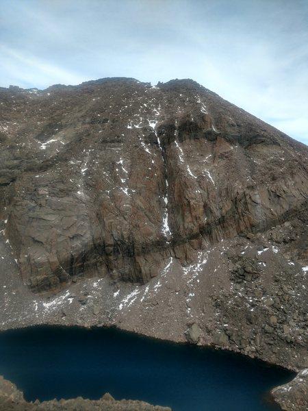 Rock Climbing Photo: Martha from across Chasm Lake.