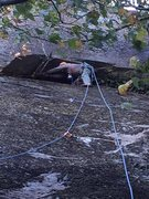 Rock Climbing Photo: Brian Gulden at belay on FA