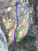 The blue line is Orange, the green line is Squeeze.