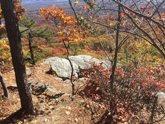 Rock Climbing Photo: Look for this from the trail that follows the clif...