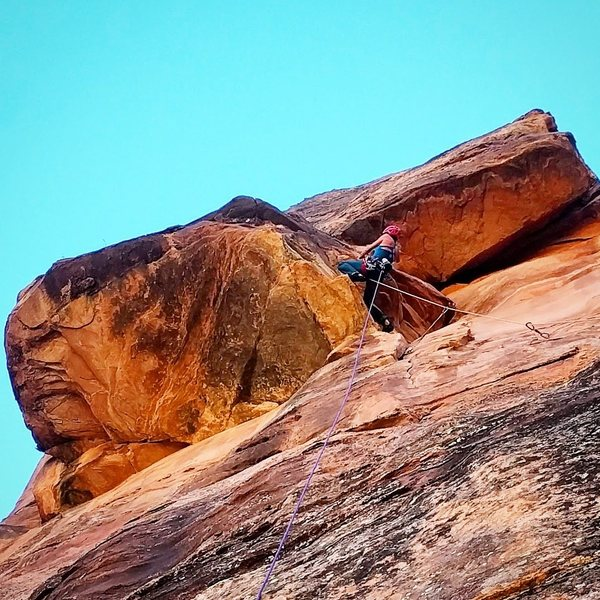 Rock Climbing Photo: The roof on Pitch 1