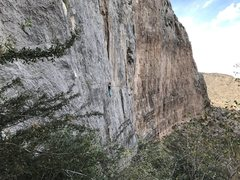 Rock Climbing Photo: Brittany making her way towards the crux of The Sa...