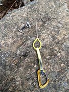 Rock Climbing Photo: The wire that was left