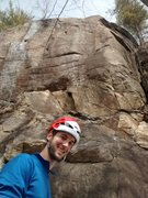 Rock Climbing Photo: Mike Lero at Jimmy Cliff in Rumney NH