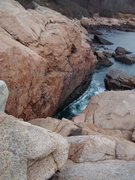 Rock Climbing Photo: Far end of Rafe's Chasm in Gloucester, MA