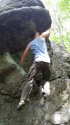 Rock Climbing Photo: Trying the Dyno approach to the Great roof of Chin...