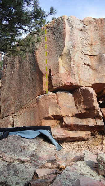 Rock Climbing Photo: Arete, left of Around the Bulge. Super fun moves! ...