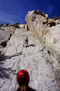 Rock Climbing Photo: Uptown Girl, 5.9 slab