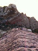 Rock Climbing Photo: Climbing the RIB!!!!