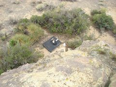 Rock Climbing Photo: V0 highball.