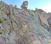 Rock Climbing Photo: Gerstenegg sector : left center C. Left Double-Fla...