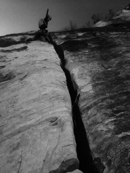 Rock Climbing Photo: Frigid Air Splitter!!! Photo Jesse Ray!!