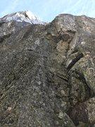 Rock Climbing Photo: Alternate Direct start a short way down the gully ...
