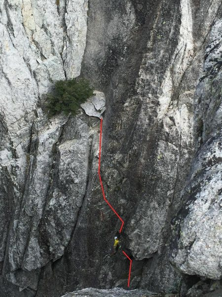 Rock Climbing Photo: A Direct Alternate start (80') bypassed the orig...
