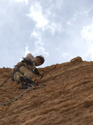 Rock Climbing Photo: Crusher, on FA. Chip Wilson photo