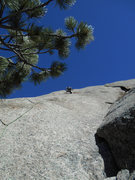 Rock Climbing Photo: Leading pitch 2.