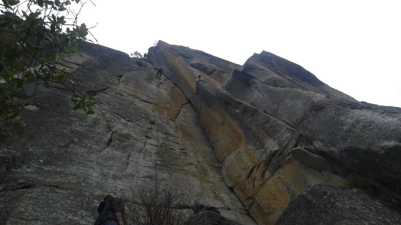 Rock Climbing Photo: My friend rapping Red Zinger, Ondra on his first p...