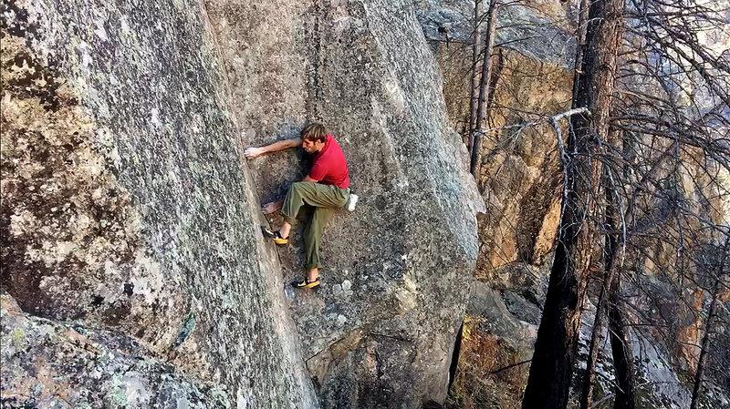 Rock Climbing Photo: Orange Faced Devil, V6.