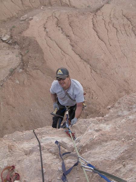 Rock Climbing Photo: Chip Wilson near at the top