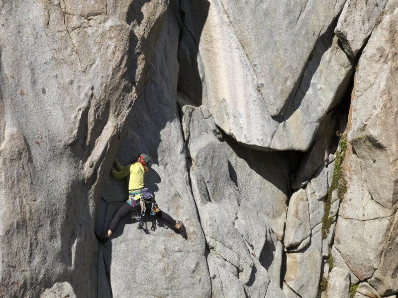 Rock Climbing Photo: The Start of Hanz and Franz