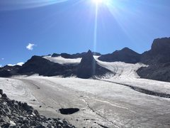 Rock Climbing Photo: Nunatak is the obvious pointed nunatak coming out ...