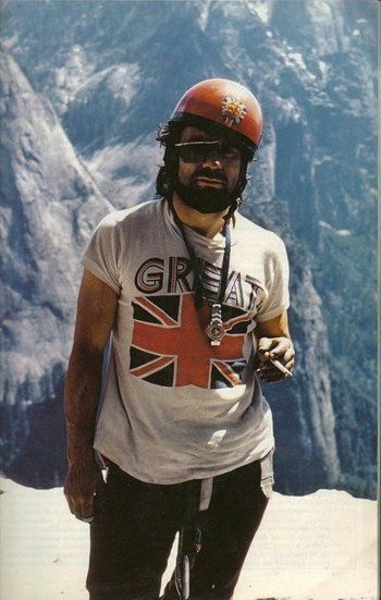 First all British ascent Salathe Wall 1973  Hanging out on El Cap Spire