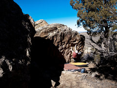 Rock Climbing Photo: The crag boulders are the best.