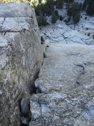 Rock Climbing Photo: With a 70m rope you can link P2 and P3. From the l...