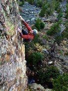 Rock Climbing Photo: J. Tarry on Big, Black Moose, 12b.