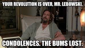 The Bums have lost!
