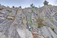 Rock Climbing Photo: Handegg sector - central  .  H. Center Right Crack...