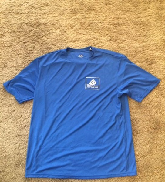 American Alpine Club tech tee, Sz. Large