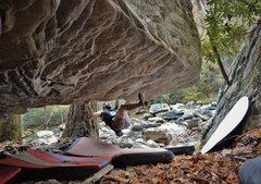 Rock Climbing Photo: FA of Night Vale Roof