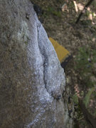 Rock Climbing Photo: The lovely edge at the lip, and a pad below, waiti...