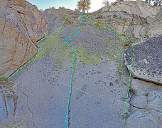 Rock Climbing Photo: Grimsel - Eldorado sector - Right slab L. Snake M....